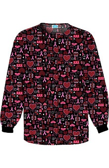 Scrub H.Q. by Cherokee Women's Crew Neck BCA Print Jacket