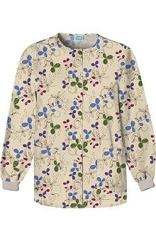 Scrub H.Q. by Cherokee Women's Crew Neck Botanical Print Jacket