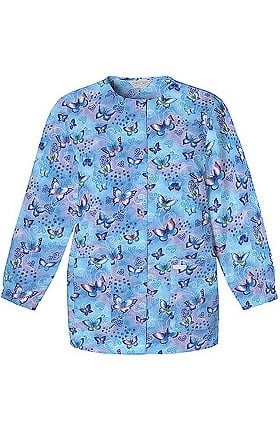 Scrub H.Q. by Cherokee Women's Crew Neck Fly By Night Print Jacket