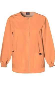 catplus: Cherokee Workwear Women's Jewel Neck Warmup Solid Scrub Jacket