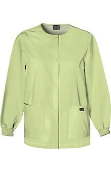 Clearance Cherokee Workwear Women's Jewel Neck Warmup Solid Scrub Jacket