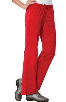 Clearance WW Flex by Cherokee Workwear with Antimicrobial Certainty Women's Mid-Rise Moderate Flare Scrub Pant