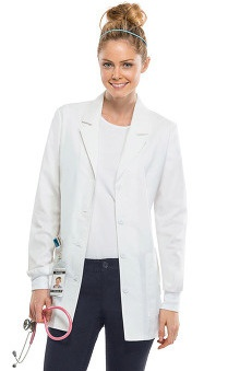 Core Stretch by Cherokee Workwear Women's Lab Coat 30