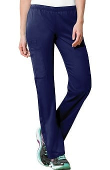Clearance WW Flex by Cherokee Workwear with Certainty Antimicrobial Fabric Technology Women's Mid-Rise Straight Leg Scrub Pants