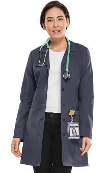 "Clearance Premium Stretch by Cherokee Workwear Women's 33"" Lab Coat"