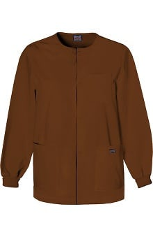 Clearance Cherokee Workwear Men's Snap Front Solid Scrub Jacket