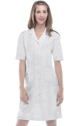 Core Stretch by Cherokee Workwear Women's Button Front Scrub Dress