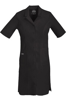Clearance Core Stretch by Cherokee Workwear Women's Button Front Scrub Dress