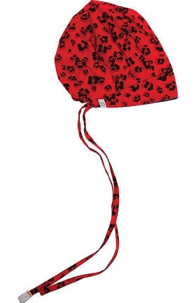 code happy Women's Bouffant Leopard Print Scrub Hat