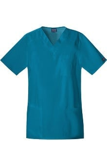 Cherokee Workwear Unisex Tall V-Neck Solid Scrub Top
