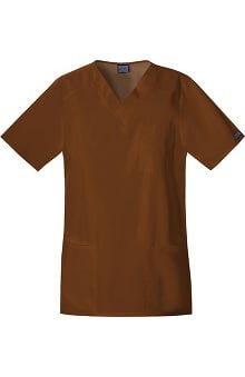 unisex tops: Cherokee Workwear Unisex Tall V-Neck Solid Top