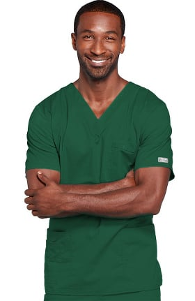Core Stretch by Cherokee Workwear Unisex V-Neck Solid Scrub Top