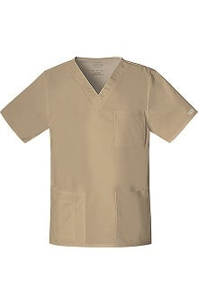 Clearance Core Stretch by Cherokee Workwear Unisex V-Neck Solid Scrub Top
