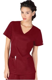 Clearance Core Stretch by Cherokee Workwear Women's V-Neck Solid Scrub Top