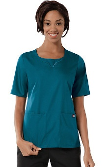 Clearance Cherokee Workwear Women's Scoop Neck Solid Scrub Top