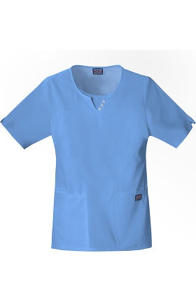 Clearance Cherokee Workwear Women's Round Neck Solid Scrub Top