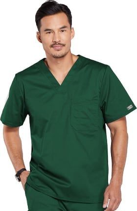 Core Stretch by Cherokee Workwear Men's V-Neck Solid Scrub Top