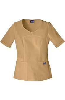 Clearance Cherokee Workwear Women's Novelty V-Neck Solid Scrub Top