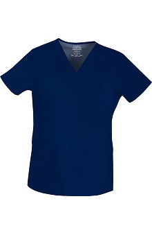 Clearance Premium Stretch by Cherokee Workwear Women's V-Neck Solid Scrub Top