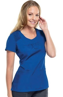 Clearance Cherokee Workwear Women's Scoop Neck Solid Scrub Top