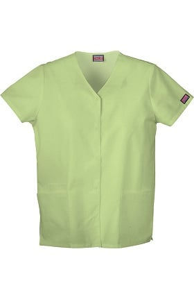 Clearance Cherokee Workwear Women's Snap Front 2-Pocket Solid Scrub Top