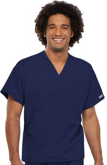 2XL: Cherokee Workwear Unisex V-Neck 1-Pocket Solid Scrub Top