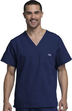 Cherokee Workwear Men's V-Neck Solid Scrub Top