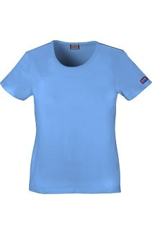 MED: Cherokee Workwear Women's Round Neck T-Shirt
