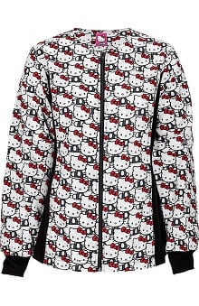 Tooniforms by Cherokee Women's Warm Up Hello Kitty Print Scrub Jacket