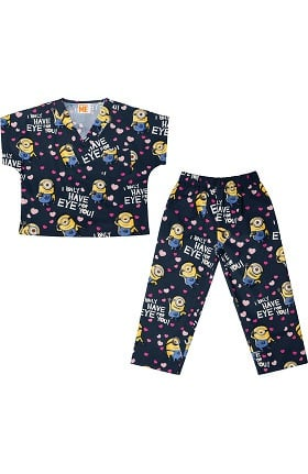 Clearance Tooniforms by Cherokee Kid's Unisex Minion Print Scrub Set