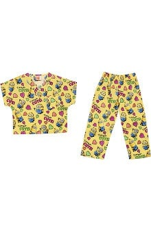 Tooniforms by Cherokee Kid's Unisex Minion Print Scrub Set