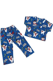Tooniforms by Cherokee Kid's Unisex Frosty Print Scrub Set