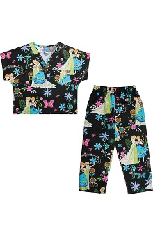 Tooniforms by Cherokee Unisex Kid's Print Scrub Sets