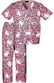 Tooniforms by Cherokee Kid's Hello Kitty Print Scrub Set