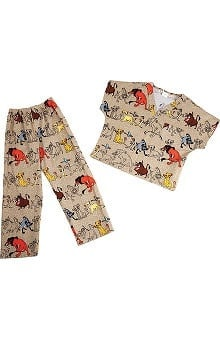 Clearance Tooniforms by Cherokee Kid's Unisex Lion King Print Scrub Set