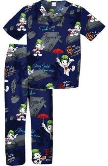 Tooniforms By Cherokee Unisex Kid's Jiminy Cricket Print Scrub Sets