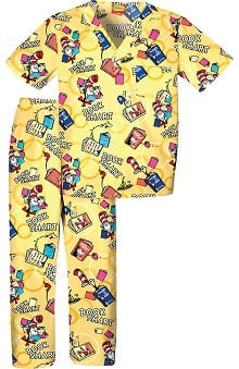 Tooniforms by Cherokee Kid's Unisex Dr. Seuss Print Scrub Set