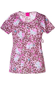 Tooniforms by Cherokee Women's Round Neck Hello Kitty  Print Scrub Top