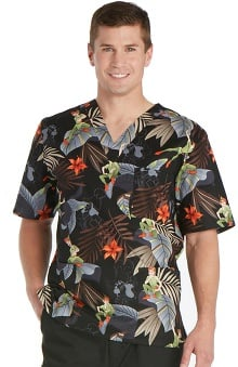 Tooniforms by Cherokee Unisex V-Neck Peter Pan Scrub Top