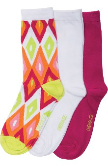 Footwear by Cherokee Women's Crew Sock 3 Pack