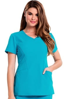 Careisma By Sofia Vergara Women's Sofia V-Neck Solid Scrub Top