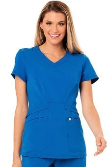 Careisma by Sofia Vergara Women's V-Neck Solid Scrub Top