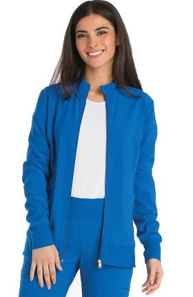 iflex™ by Cherokee Women's Zip Front Warm-Up Solid Scrub Jacket