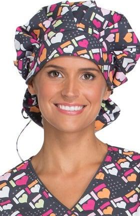 Cherokee Unisex Print Bouffant Scrub Hat