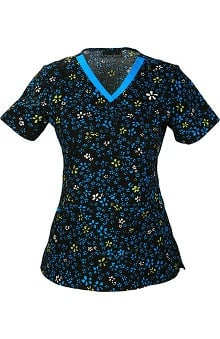 Clearance Cherokee Women's V-Neck Floral Print Scrub Top