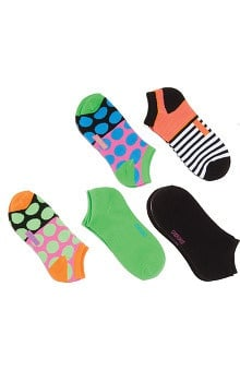 Footwear by Cherokee Women's Color Fling No Show Sock 5 Pack