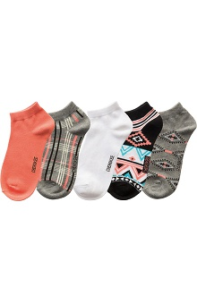 Cherokee Women's Coral Print No Show Socks 5 Pack