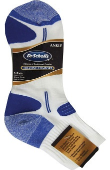 Dr. Scholl's Men's Trizone Ankle Sock