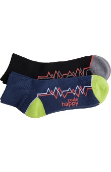 code happy™ Unisex Low Cut Ankle Socks-2 Pair