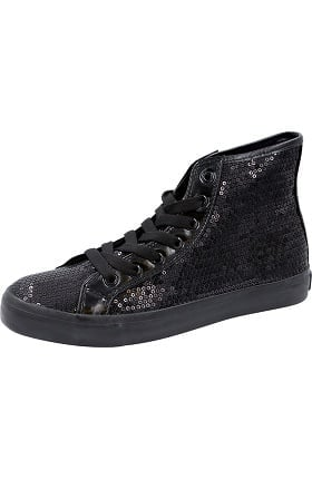 Footwear by Cherokee Women's Hi Top Sequin Lace Up Shoe